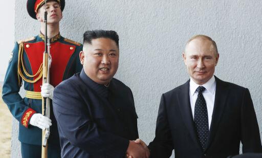 image: Putin og Kim fornøyde etter møte