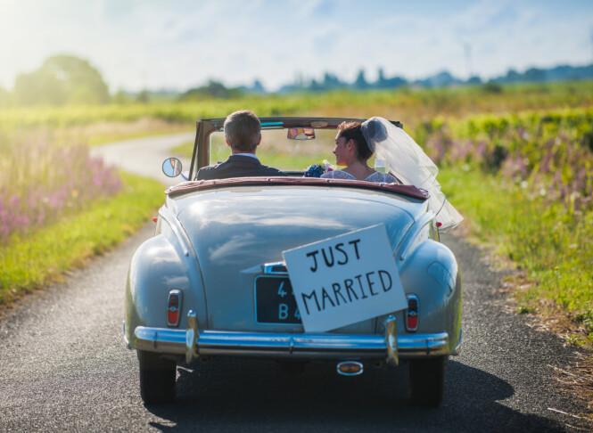 NYGIFT: Etter bryllupet pleier paret ofte å dra på bryllupsreise - på engelsk kjent som honeymoon. Foto: Scanix