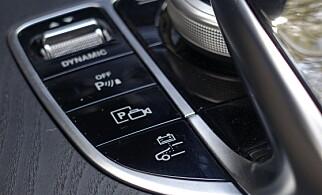 NY KNAPP: Med den nærmeste velger man hybridsystem, med den fremre, kjøremodus. Foto: Rune M. Nesheim