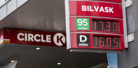 image: Ny prisrekord for bensin i Norge