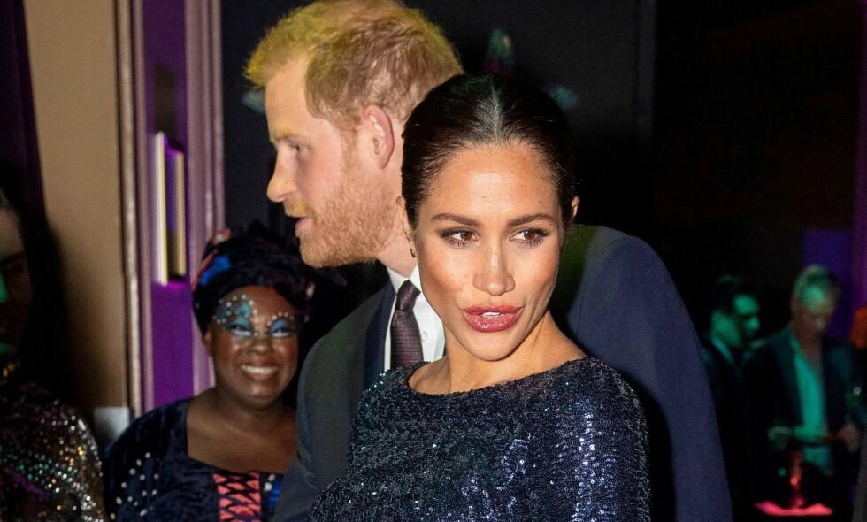 BLIR FORELDRE: Prins Harry og hertuginne Meghan venter i disse dager sitt første barn. Se og Hørs kongehusekspert tror barnet kan få et afrikansk navn i navnerekken. Foto: NTB Scanpix
