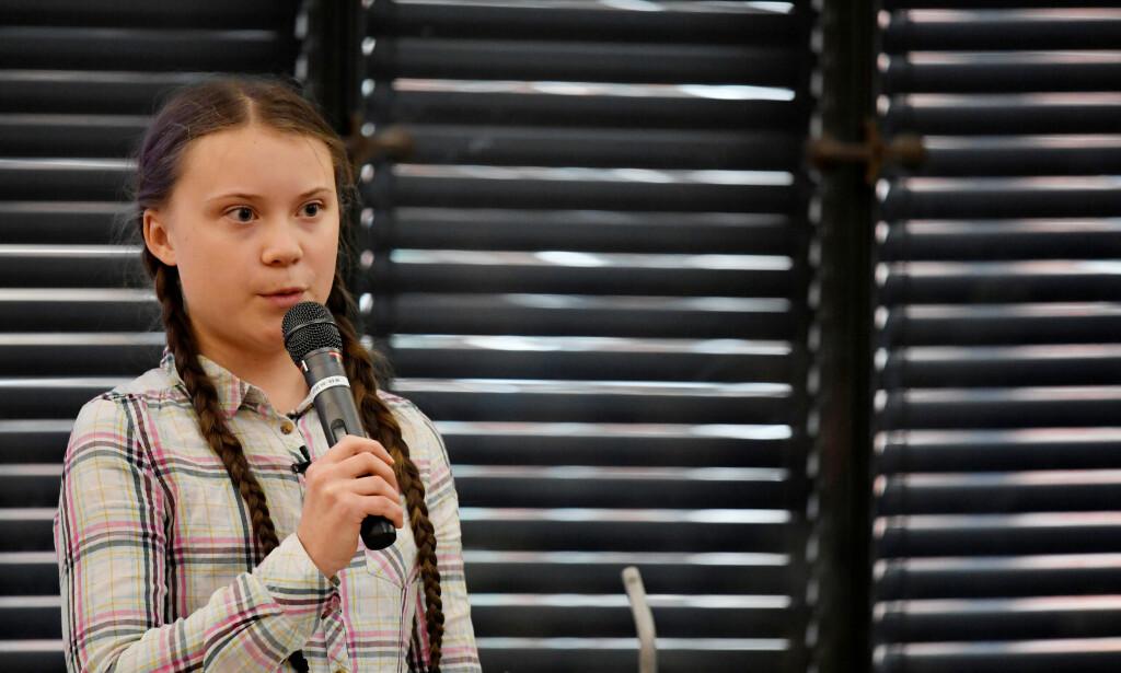 STREIKER FOR KLIMAET: Greta Thunberg har i løpet av kort tid blitt frontfigur for klimasaken. Foto: NTB Scanpix