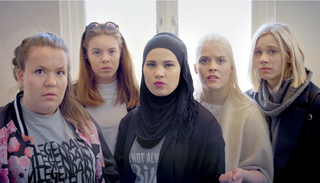 <strong>SUKSESS:</strong> Gjennom fire sesonger fulgte store deler av landet gjengen i «Skam», med blant andre Jente-Chris, Eva, Sana, Vilde og Noora. Foto: NRK