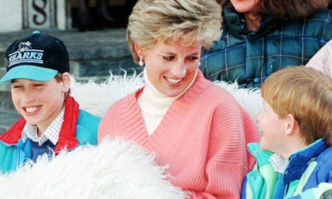 ANKERPUNKT I LIVET: For prins William (t.v.) og prins Harry var det naturlig nok en vond erfaring å oppleve å miste sin mor da de var henholdsvis 15 og 12 år gamle. Her er brødrene fotografert med moren, prinsesse Diana, i Østerrike i mars 1994. FOTO: NTB Scanpix
