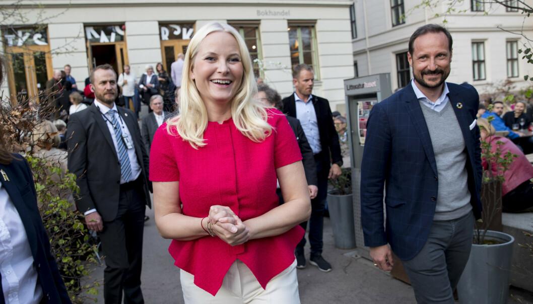 Kronprinsesse Mette-Marit etter åpningen av Den tysk-norske litteraturfestivalen. Kronprins Haakon dukket opp ved avslutningen av åpningen. (Foto: Vidar Ruud / NTB scanpix).