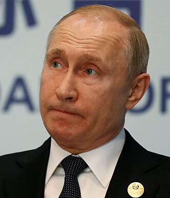 RASER: President Vladimir Putin var rasende på dommen mot Maria Butina og kaller rettsaken parodisk. Foto: Sergei Ilnitsky/REUTERS/Scanpix.