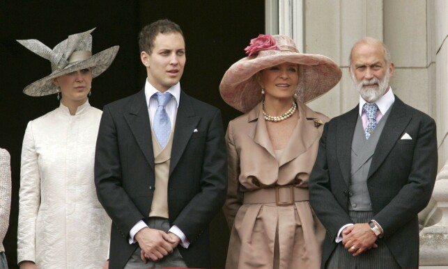 FAMILY GIRL: Lady Gabriella Windsor (t.) She is the daughter of the Prince of Kent couple (t.h). Next to the future bride is his brother, Lord Frederick Windsor. The photo was taken in 2007. Photo: NTB scanpix