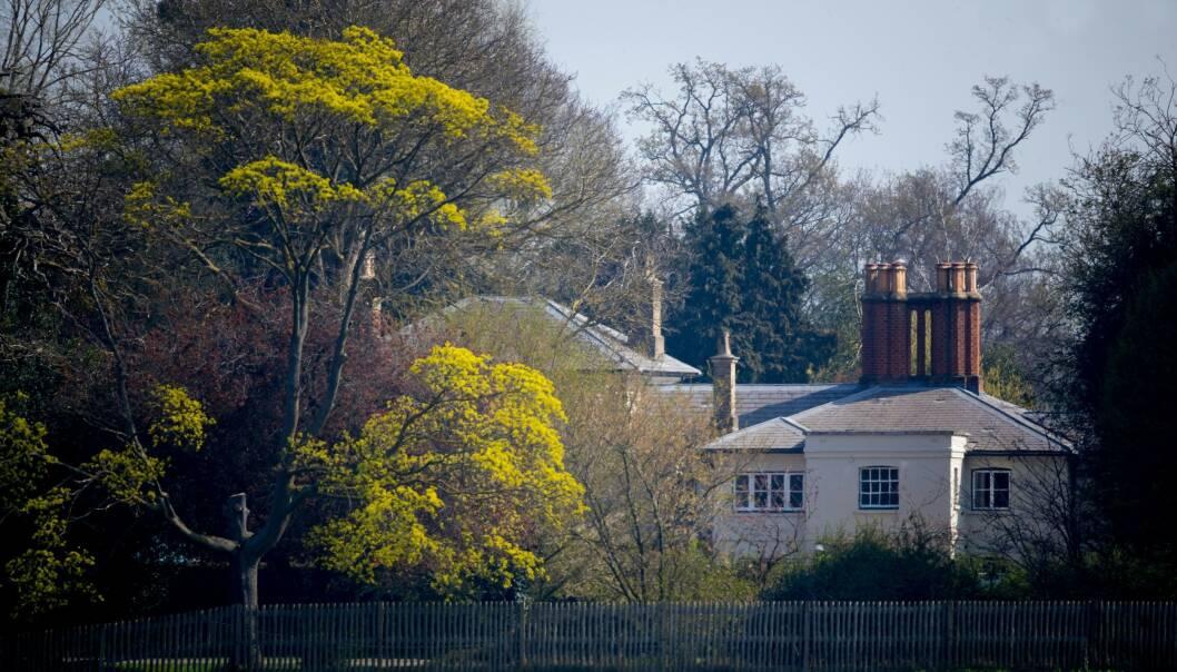 SPLITTES: Meghan og Harry har flyttet inn hit, på Frogmore Cottage. William og Kate blir igjen i London. Foto: NTB scanpix