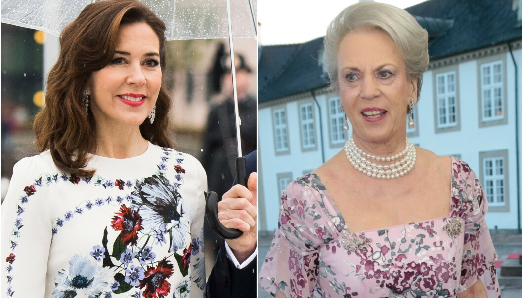 <strong>KRITISERER DE KONGELIGE:</strong> Prinsesse Benedikte (t.h) kritiserer utviklingen hos den yngre generasjonen kongelige i sin nye bok. Blant annet mener hun de i dag har en alt for stor garderobe. Foto: NTB Scanpix