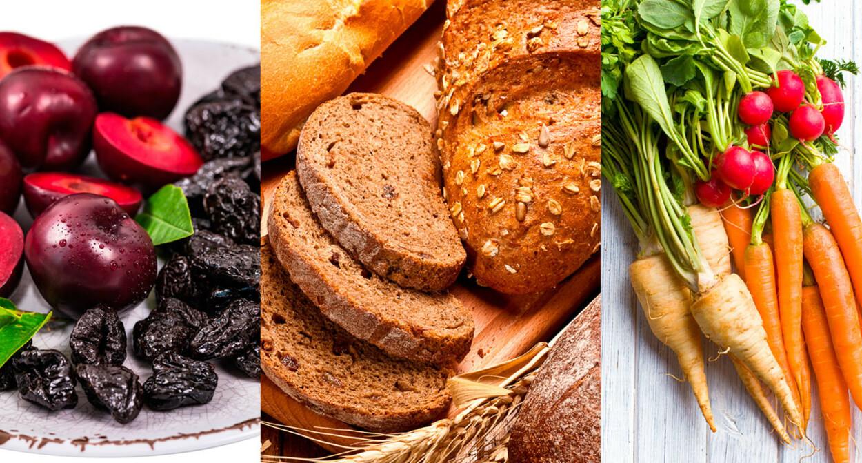 MAT MOT HARD OG TREG MAGE: Tørket frukt (spesielt svisker), grovt brød og rotfrukter er god mat ved treg mage. Foto: NTB Scanpix/Shutterstock