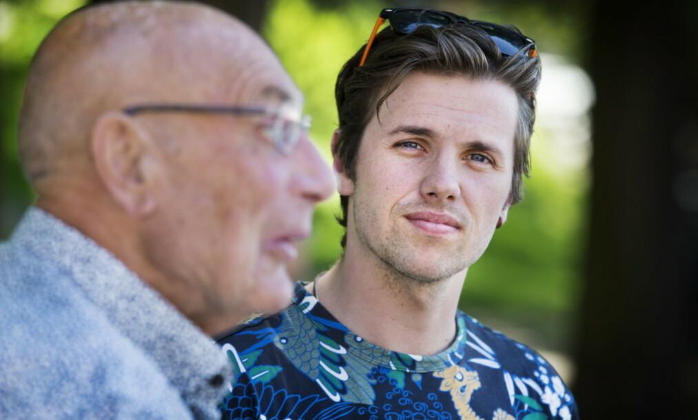 UT PÅ NYE EVENTYR: Eventyreren Samuel Massie (26) og bestefaren Arne Ulvolden (83) ble raskt en TV-favoritt hos det norske folk. Nå er de nok en gang ute i den store verden sammen. Foto: Henning Lillegård / Dagbladet