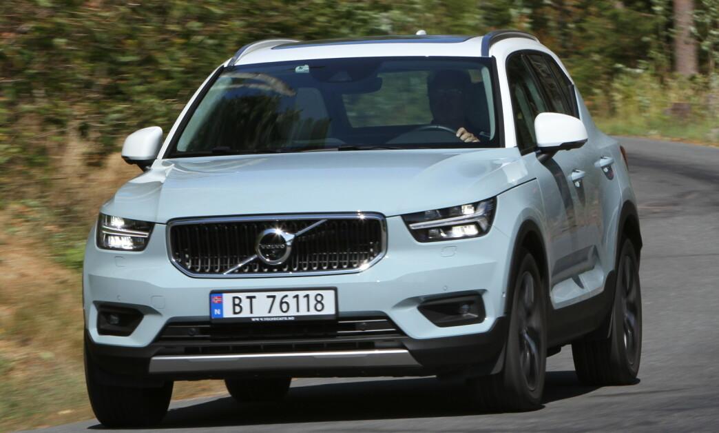 <strong>BESTE BIL TIL Å TREKKE CAMPINGVOGN:</strong> Ifølge britiske Caravan and Motorhome Club er Volvos XC40 totalt sett den beste bilen til å trekke henger i 2020. Foto: Jamieson Pothecary