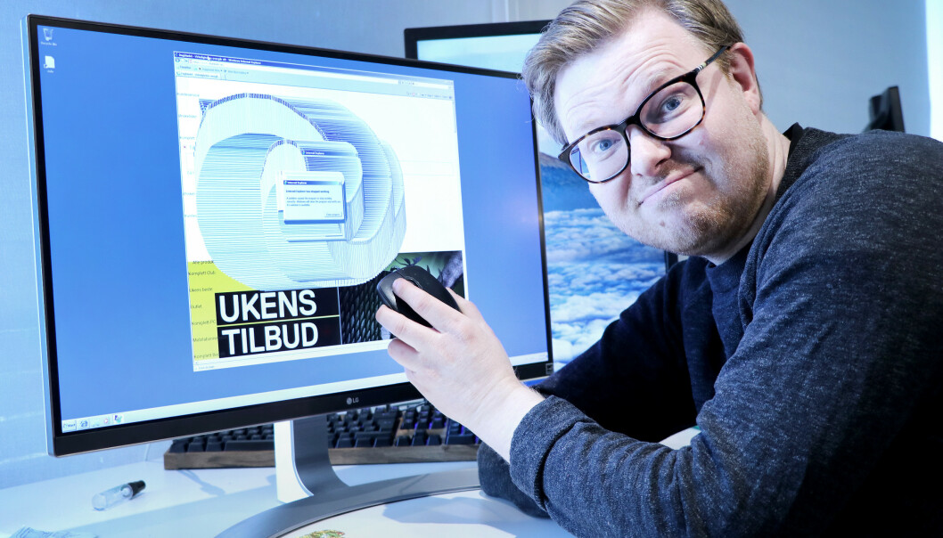 RART NETT?: Hvis nettet begynner å se rart ut er det på tide å ta grep. Foto: Ole Petter Baugerød Stokke.