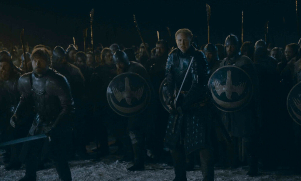 OVERLEVDE: Jaime og Brienne var nærmest udødelige i ukas episode. Foto: HBO NORDIC