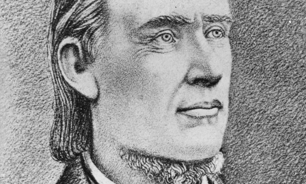 Den norske lekpredikanten Hans Nielsen Hauge (1771–1824) hadde et karakteristisk skjegg under haken. Nå trekkes han fram som et forbilde for KrF. Foto: Arkiv / NTB SCANPIX.