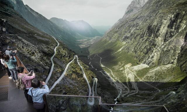 12db1090 VAKKERT: Trollstigen er en av Norges mest besøkte strekninger, også blant  nordmenn. I