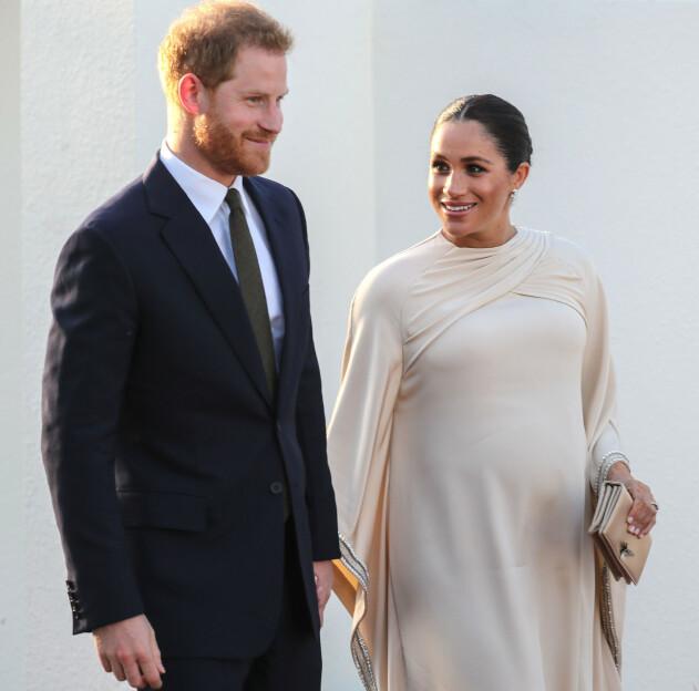 SNART FORELDRE: Prins Harry og hertuginne Meghan venter sitt første barn sammen. Foto: Scanpix