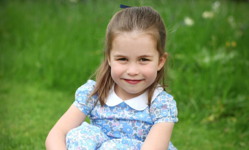 <strong>BURSDAGSPRINSESSE:</strong> I dag fyller prinsesse Charlotte fire år. Foto: Hertuginnen av Cambridge via REUTERS / NTB Scanpix