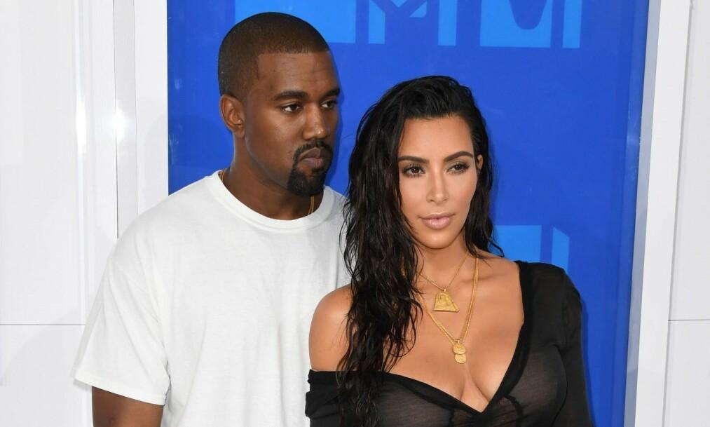 <strong>BLE FORELDRE:</strong> Kim Kardashian og Kanye West er blitt firebarnsforeldre. Foto: NTB Scanpix