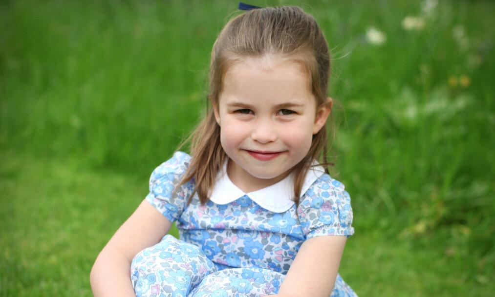 BURSDAGSPRINSESSE: I dag fyller prinsesse Charlotte fire år. Foto: Hertuginnen av Cambridge via Reuters / NTB Scanpix