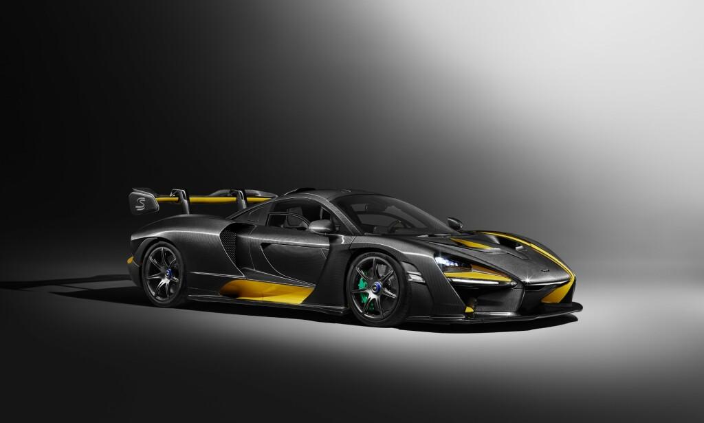 """SUPER-RASK: Senna skal klare 0-200 km/t på litt over sju sekunder. Den midtplasserte motoren yter """"bare"""" 800 hester, men bilen veier bare 1100 kilo. Foto: McLaren"""