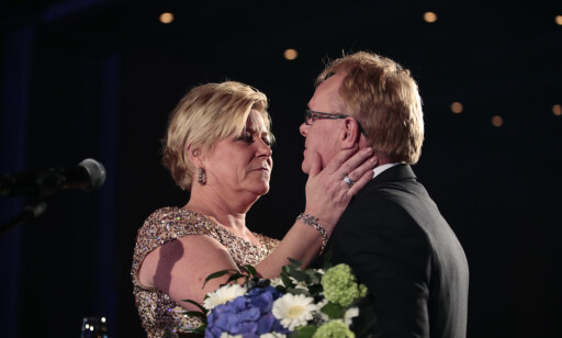 TAKKET AV: Per Sandberg takket offisielt av lørdag kveld. Foto: Lise Åserud / NTB scanpix