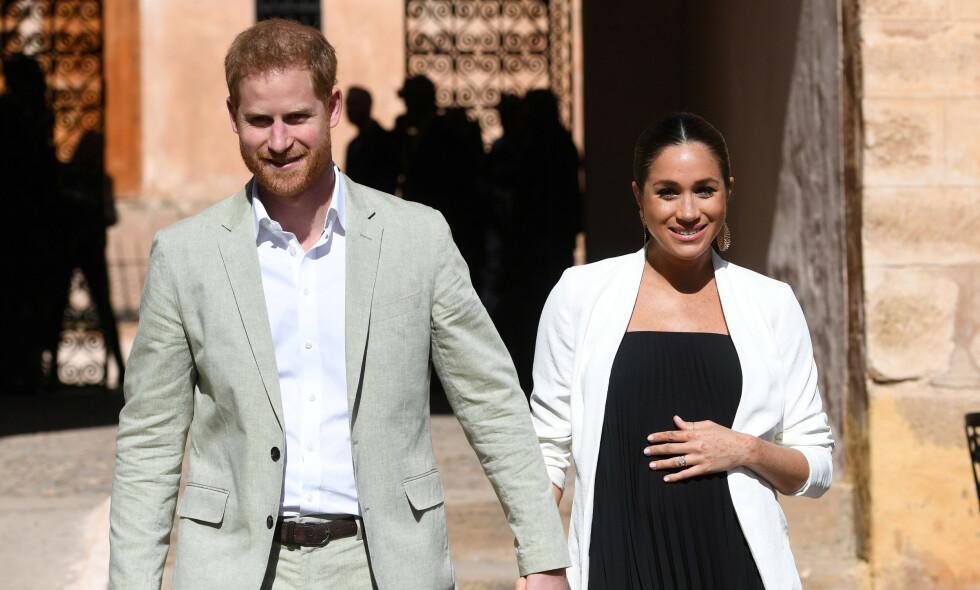 SNART FORELDRE: Prins Harry og hertuginne Meghan blir i disse dager foreldre for første gang. Nå hevdes det at de er på leting etter bolig i California, for å ha et hjem i nærheten av Meghans mor, Doria Ragland. Foto: NTB Scanpix