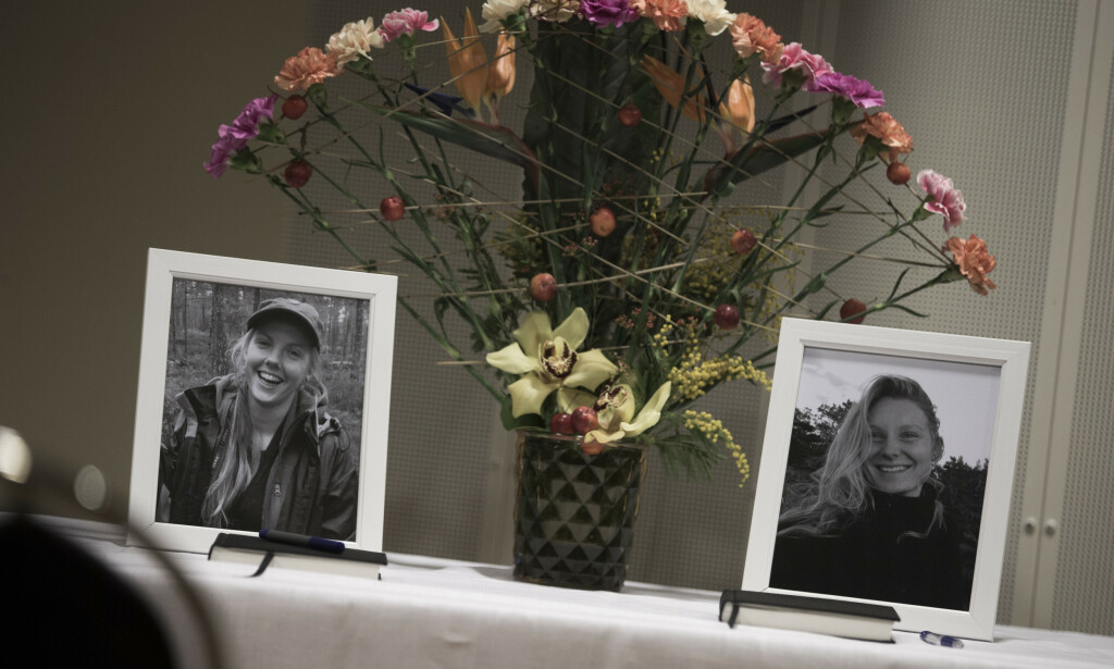 Minnestund for Maren Ueland og Louisa Vesterager Jespersen ved Universitetet i Sørøst-Norge hvor de begge studerte. Foto: Trond Reidar Teigen / NTB scanpix