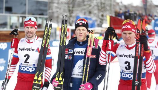 REAGERER: Russerne mener Johannes Høsflot Klæbo får en fordel av FIS. Foto: NTB Scanpix