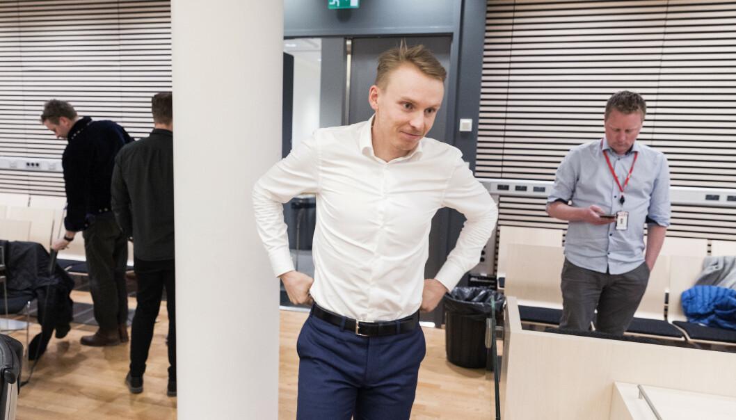 Henrik Kristoffersen i Oslo Tingrett under rettssaken mot Norges Skiforbund. Foto: Gorm Kallestad / NTB scanpix