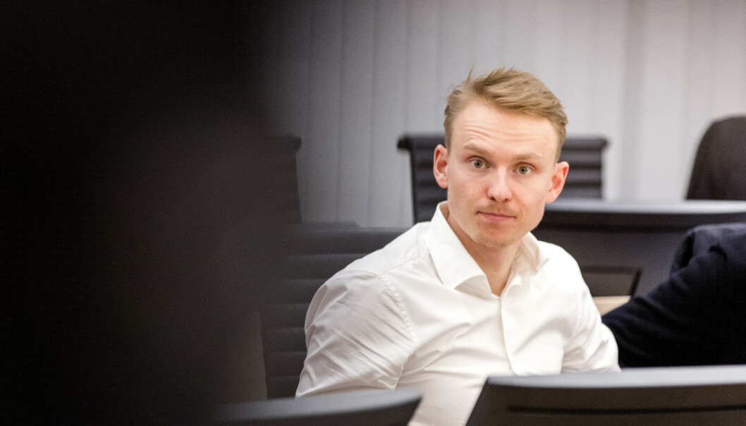 Henrik Kristoffersen i Oslo tingrett under prosedyrene i rettssaken mellom ham og Norges Skiforbund. Foto: Gorm Kallestad / NTB scanpix