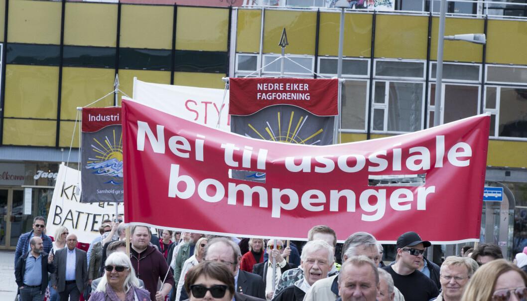 STORT ENGASJEMENT: Fra 1. mai-toget i Drammen. Foto: Terje Pedersen / NTB Scanpix