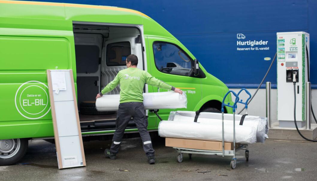 ELBIL-FRAKT: IKEA vil bytte ut sine leveringsbiler med elektriske versjoner. Foto: NTB Scanpix