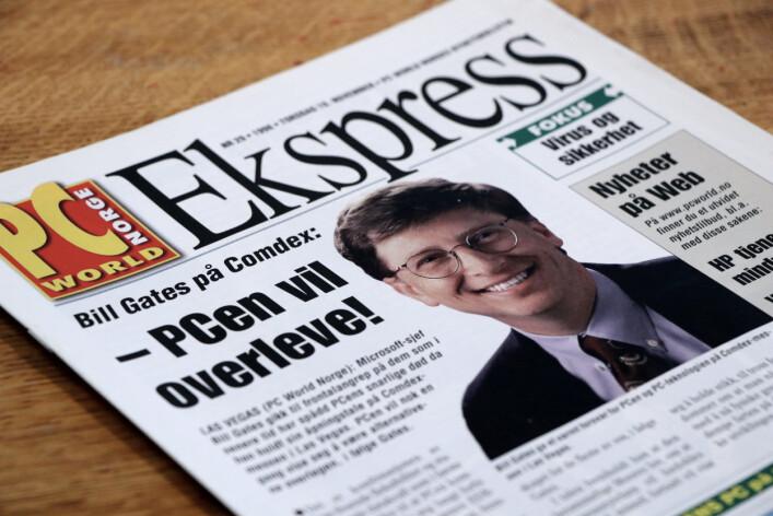 """""""PC-en vil overleve"""" melder Bill Gates. 📸: Ole Petter Baugerød Stokke"""