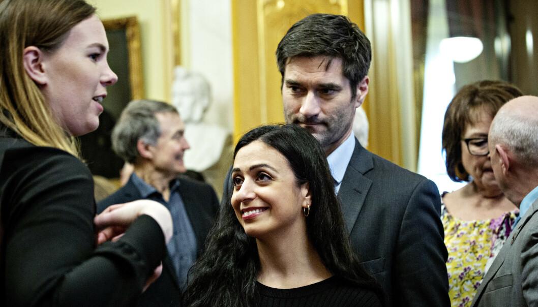 FORLOVET: Hadia Tajik og tidligere Dagens Næringsliv-journalist Kristian Skard skal gifte seg. Foto: Nina Hansen / Dagbladet