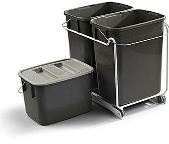<strong>Uttrekksvogn:</strong> Plass til 3 beholdere i forskjellige størrelser. kr 543,75, witre.no Foto: Produsenten