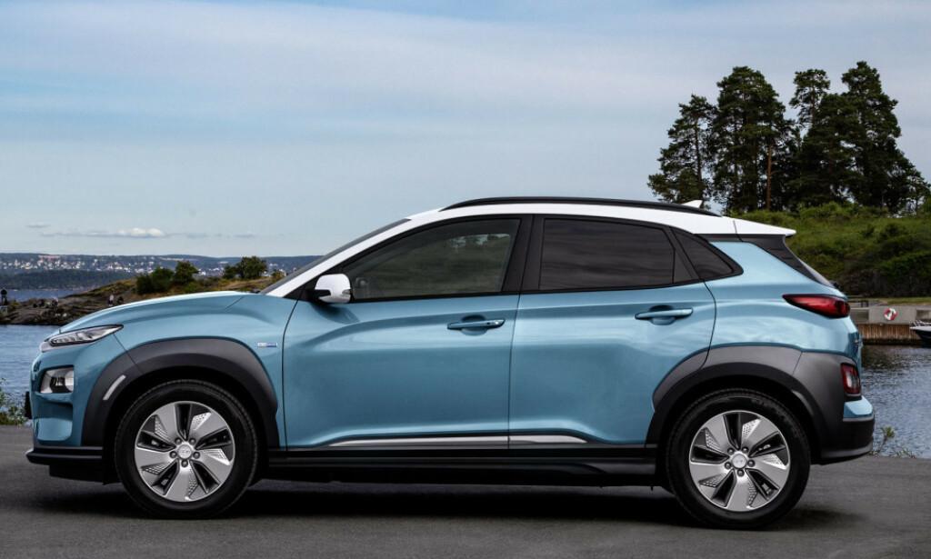 BLIR NY: Hyundai Kona Electric blir raskere å lade, men også dyrere i 2020. Foto: Jamieson Pothecary