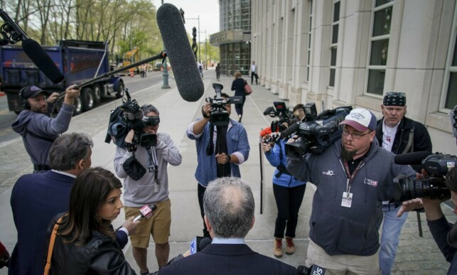 MEDIA INTEREST: There is huge interest in the current trial. Here Keith Ranieres lawyer Paul DerOhannesian speaks to the press on Tuesday. Photo: NTB Scanpix