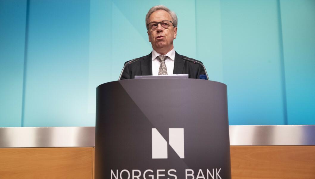 Sentralbanksjef Øystein Olsen varsler det flere analytikere mener er en framskynding av neste renteøkning. Foto: Berit Roald / NTB scanpix