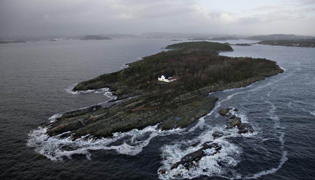 Det er funnet dampskipsvrak utenfor Dvergsøya i Kristiansand. Kronprinsparet leier villaen på øya og bruker det som feriested. Foto: Tor Erik Schrøder / NTB scanpix