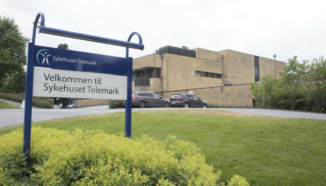 En pasient døde da vedkommende ikke fikk forsvarlig helsehjelp på Sykehuset Telemark. Foto: Terje Pedersen / NTB scanpix