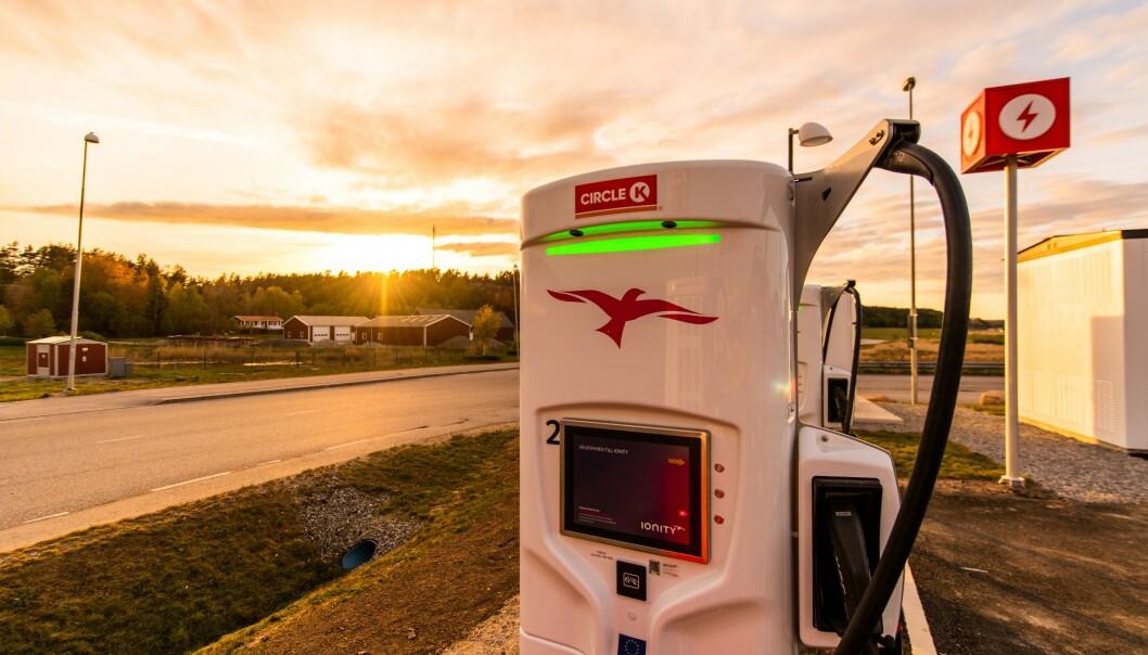 EUROPAKORRIDOR: Nå kan du komme deg til Europa ved hjelp av lynrask lading. Foto: Terje Borud / Circle K