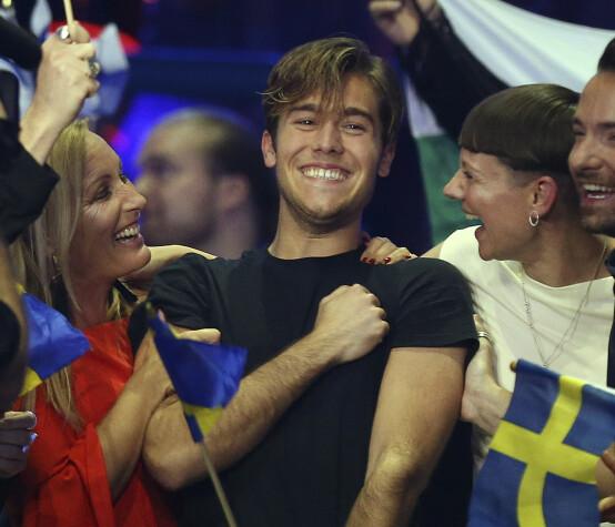 TREKKER SEG TILBAKE: Benjamin Ingrosso representerte Sverige i Eurovision i 2018. I Skandinavia er han allerede godt kjent, som en del av familiens realityprogram «Wahlgrens värld». Foto: NTB scanpix