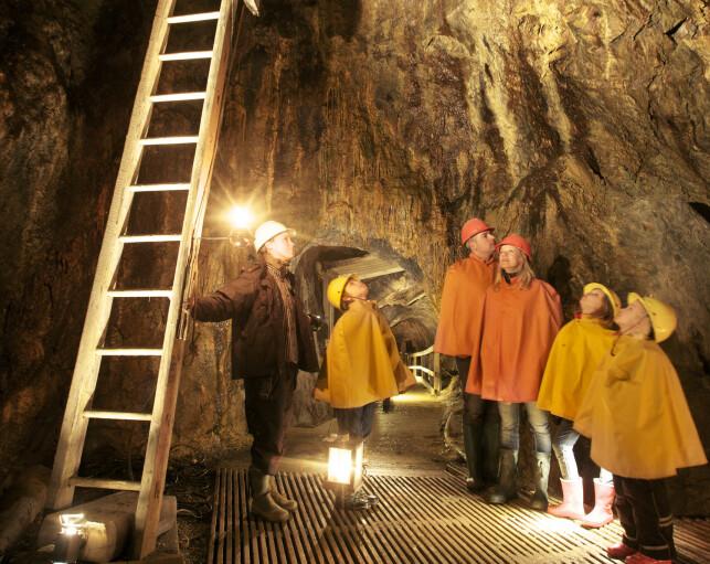 HISTORISK EVENTYR: Her får barna lært om den 300-årige gruvehistorien på en spennende, morsom og trygg måte. Foto: Richard Lindor