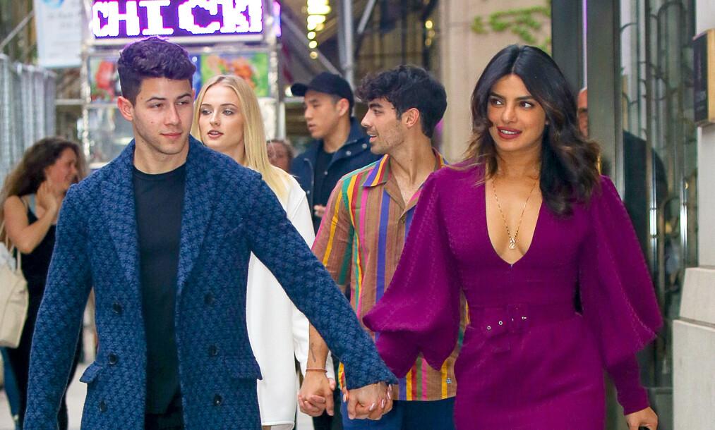 BABYPLANER: Nick Jonas og Priyanka Chopra skal være klare for å stifte familie sammen. Foto: NTB Scanpix
