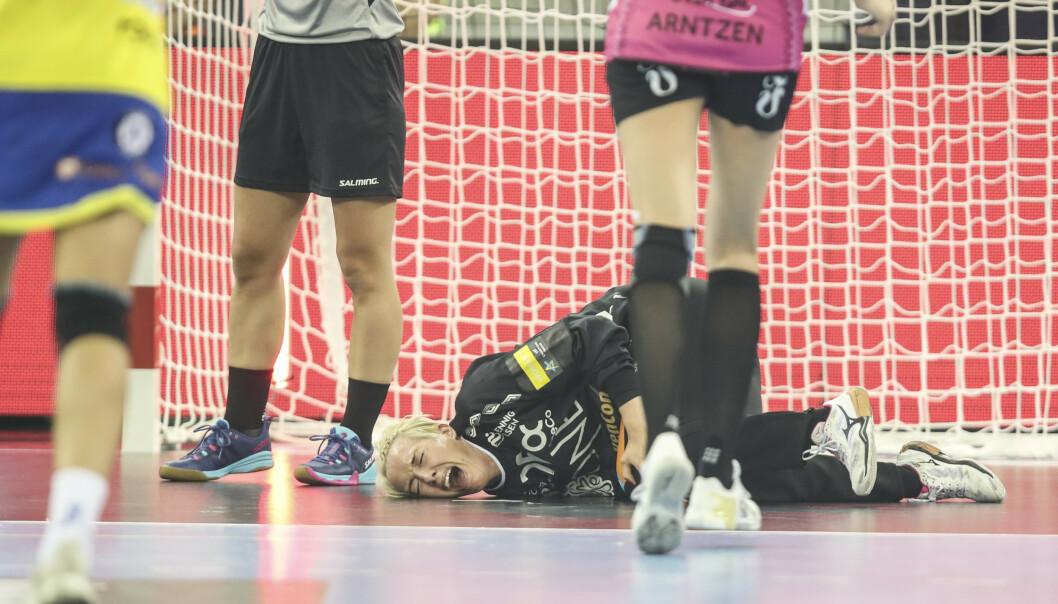 Katrine Lunde skadet kneet i kampen mellom Metz og Vipers søndag. Foto: Vidar Ruud / NTB scanpix