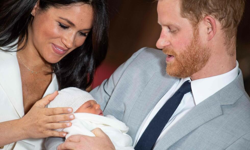 FORELDRE: Hertuginne Meghan og prins Harry ble mandag foreldre for første gang. Foto: NTB Scanpix