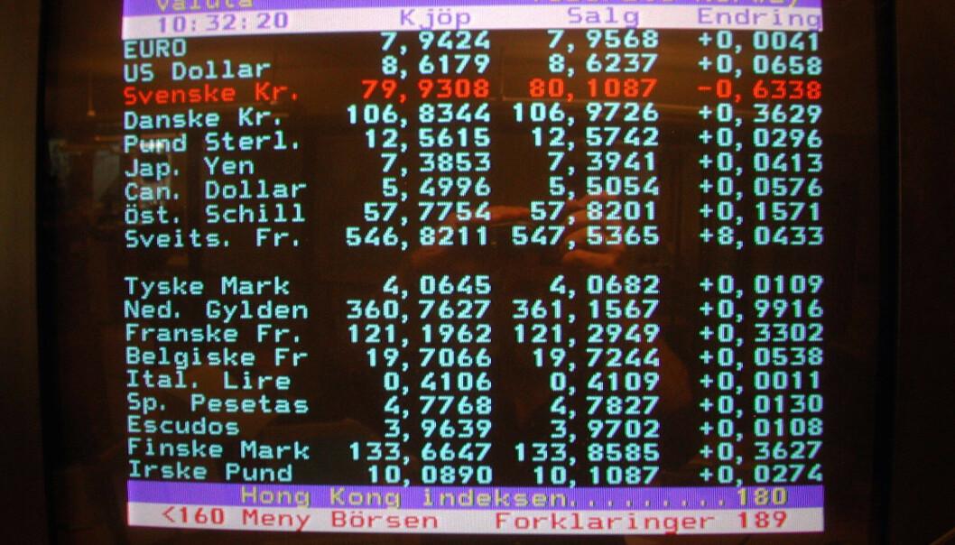 TV 2s gamle tekst-TV-tjeneste, som nå er lagt ned. GET sier det ikke er tekst-TV i deres nye dekodere. Foto: Per Løchen / NTB scanpix