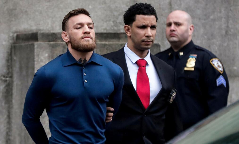 FRIKJENT: MMA-stjerna Conor McGregor er nå frikjent etter å ha havnet i trøbbel med en fan. Foto: REUTERS / Jeenah Moon / File Photo / NTB Scanpix