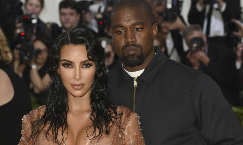 FIKK SØNN NUMMER TO: Kim Kardashian og Kanye West er nå lykkelige firebarnsforeldre. Foto: NTB Scanpix
